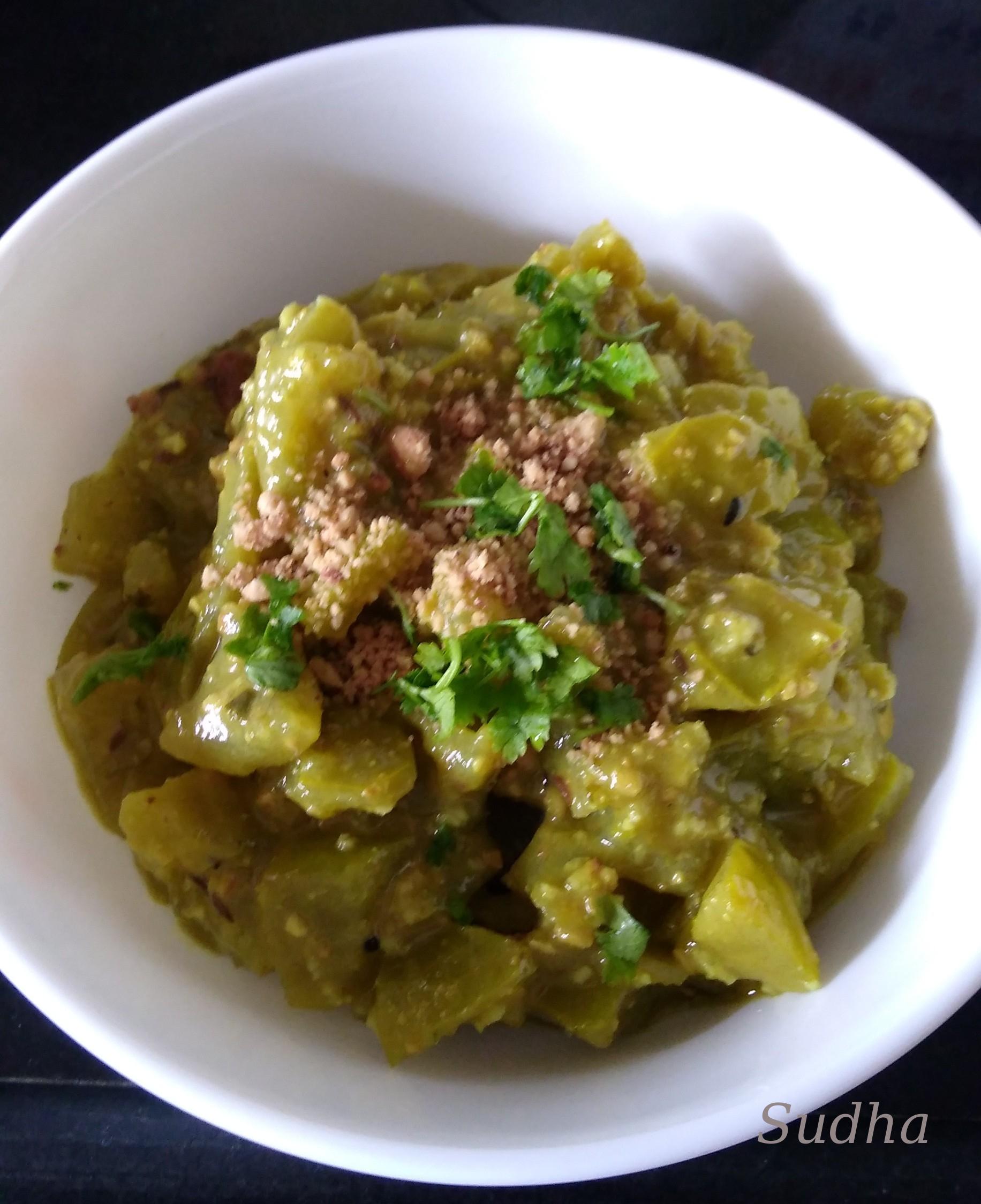 Raw Tomato Bhaaji-3