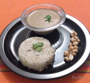 Vari Rice with Shengdana Aamti