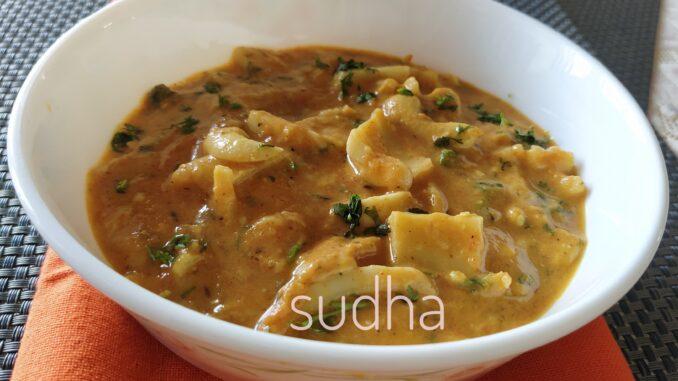 शहाळ्याच्या मलईची भाजी (Tender Coconut Subji)