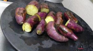 Bhajaleli Ratali (भाजलेली रताळी) - Roasted Sweet Potato
